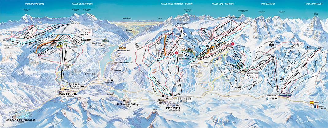 Mapa De Pistas Y Ficha Técnica Formigal Panticosa Estación De Esquí De Formigal Y Panticosa