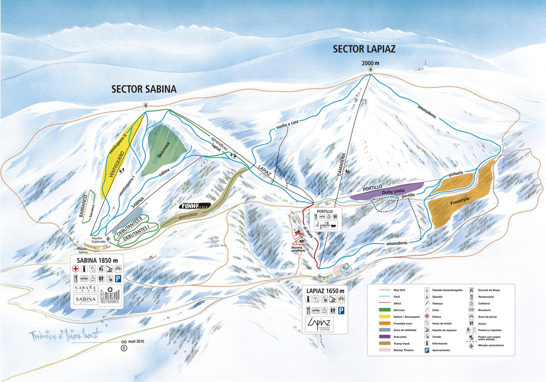 Estaciones De Esqui Mapa.Mapa De Pistas Y Ficha Tecnica Javalambre Valdelinares Estacion De Esqui De Javalambre Y Valdelinares