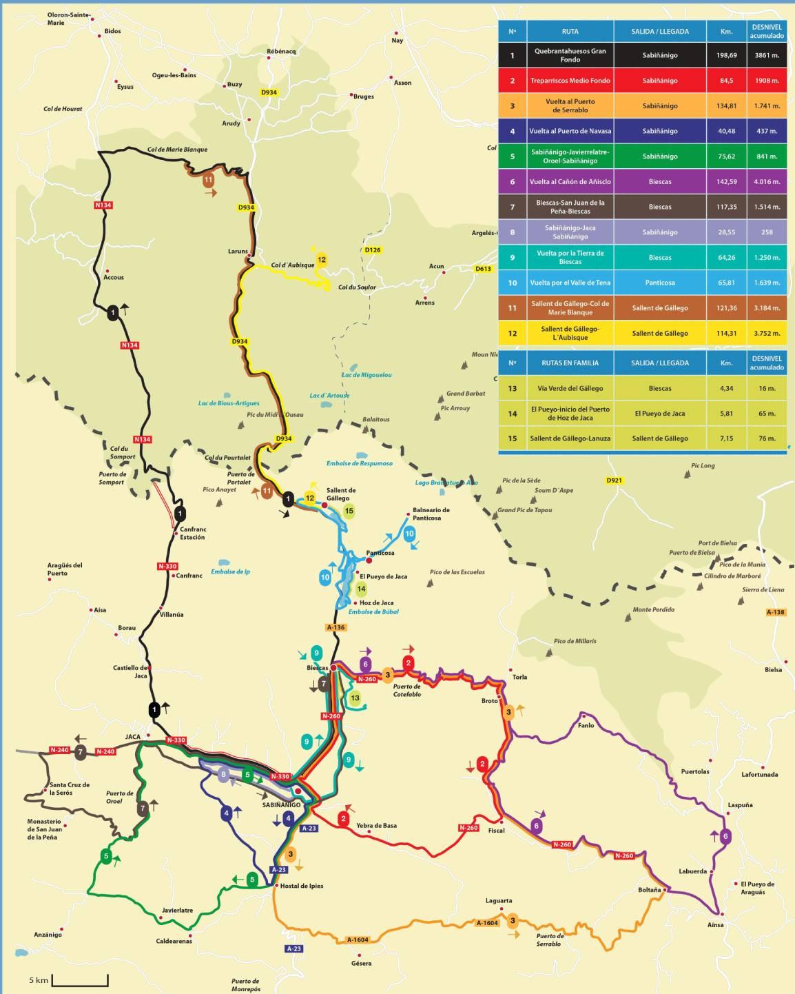 Valle De Tena Mapa.Bicicleta De Montana Valle De Tena Y Del Aragon Estacion