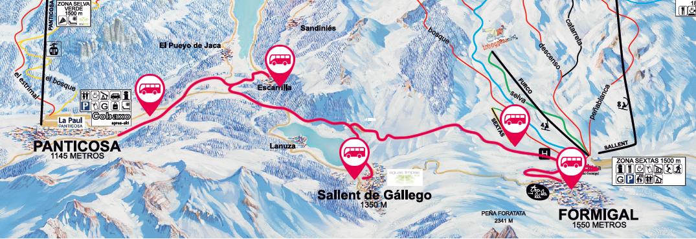 Ski Bus Transporte A Pistas En Formigal Panticosa Estacion De